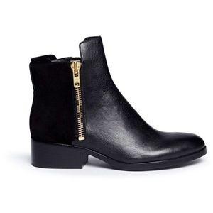 3.1 Philip Lim Blk Alexa Leather Chelsea Boot 7.5